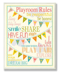 The Kids Room By Stupell Yellow Playroom Rules Wall Sign Best Price And Reviews Zulily