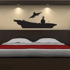 Amazon Com Military Aircraft Carrier Ship Silhouette Vinyl Wall Decal Sticker Graphic Handmade