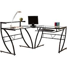 home l shaped glass desk glass desk