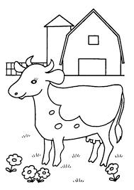 Koe Voor De Boerderij Kleurplaat Kleurplaatje Nl
