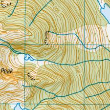 Lake Jewell, West Coast - NZ Topo Map