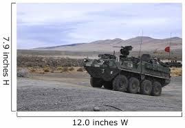 Cavalry Troopers Fire Stryker Mounted Wall Decal Wallmonkeys Com