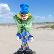 murano other vintage glass clown