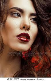 woman with perfect makeup beautiful