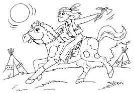 Kleurplaat Indiaan Op Paard Gratis Kleurplaten Om Te Printen