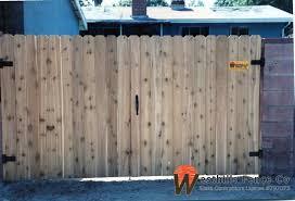 Dog Ear Cedar Double Gates