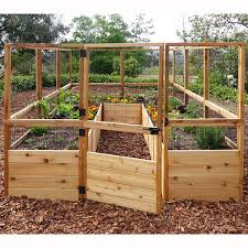 Raised Garden Bed With Fence Wayfair