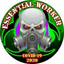 Essential Worker Sticker Radioactive Skull Virus Window Decal Various Sizes Ebay
