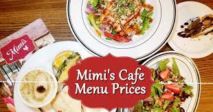 mimi s cafe menu s mimi s cafe
