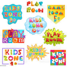 Game Room Vector Kids Playroom Banner In Cartoon Style For Children Play Zone Decoration Illustration Set Of Childish Lettering Label For Kindergarten Decor Isolated On White Background Stock Illustration Download Image
