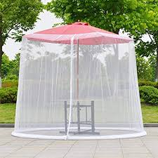 Umbrella Cover Mosquito Netting Screen, Outdoor Garden Umbrella ...