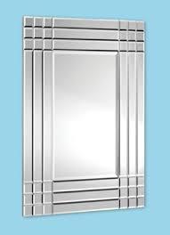 rubic 9 square frameless wall mirror