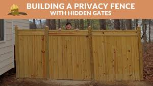 Building A Privacy Fence With Hidden Gates Youtube