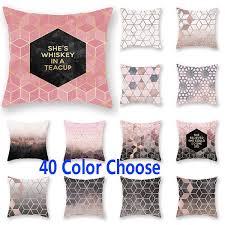 rose gold geometric pillowcase cushion