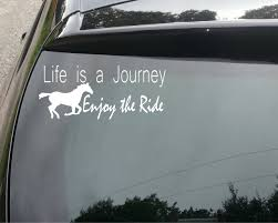 Life S A Journey Horse Riding Funny Car Buy Online In Luxembourg At Desertcart