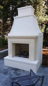 cast stone fireplace outdoor