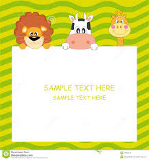 Animal Card Stock Vector Illustration Of Advertisement 16656675