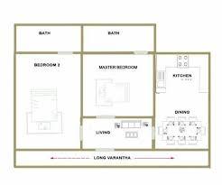 550 sqft low cost traditional 2 bedroom