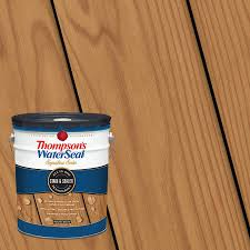Thompson S Waterseal Signature Series Pre Tinted Autumn Brown Transparent Exterior Stain And Sealer 5 Gallon In The Exterior Stains Department At Lowes Com