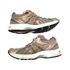 gel equation silver orange pink sneaker