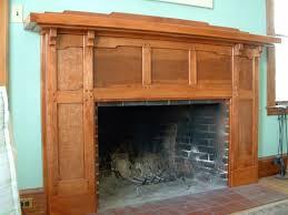arts crafts fireplace mantle fine