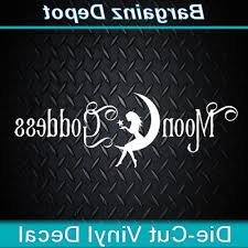 Vinyl Decal Moon Goddess Boho Hippie Pagan Wicc