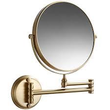 brass round mirror wall