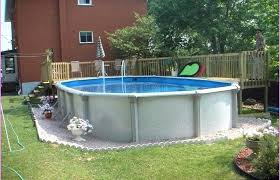 Backyard Above Ground Pool Ideas Intex Fencing Pools Decks Idea Home Elements And Style Back Yard With Stone Swimming Packages Large Small Crismatec Com