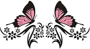 Amazon Com Practisol Car Decals For Women 1 Set Butterfly And Flower Car Decal Stickers Vinyl Car Graphics Side Hood Decals For Cars Suv Universal Scratch Hidden Car Sticker Pink Black Automotive