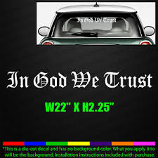 In God We Trust 22 Wide Old English Font Car Window Decal Sticker Jesus 0524 Ebay