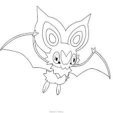 Bat Pokemon Coloring Pages