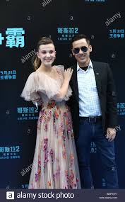 English actress and model Millie Bobby Brown, left, and American ...