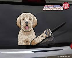 Fletcher Doodle Decal Wipertag For Rear Windshield Wiper Wipertags