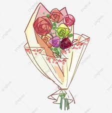 من ناحية رسم الورود مثلا زهرة حمراء باقة أزهار كرتون روز Png