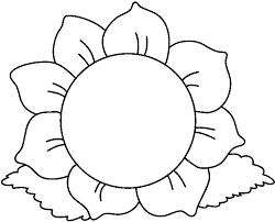 white flower clipart black