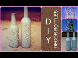 diy decor bottles glue