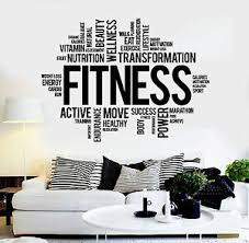 Vinyl Wall Decal Fitness Words Healthy Lifestyle Gym Motivation Stickers Ig3825 Ebay