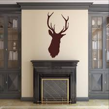 Deer Head Style B Vinyl Wall Decal 22524 Cuttin Up Custom Die Cuts