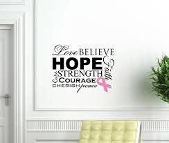 Cancer Awareness Vinyl Wall Decal Tweet Heart Home Design