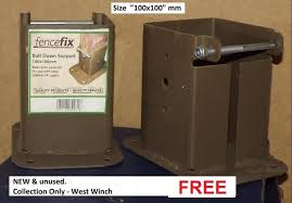 2 Fence Post Shoes Sockets Bolt Down For Sale In West Winch Norfolk Preloved
