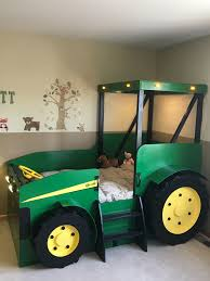 Twin Size Tractor Bed Plans Plans Only Create A Farm Themed Bedroom For Your Child Perfect For The Diy Woodworking Enthusiast In 2020 Tractor Bed Kid Beds Bed Plans