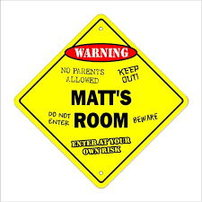 Matt S Room Decal Crossing Xing Kids Bedroom Door Children S Name Boy Girl Walmart Com Walmart Com