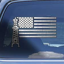 Amazon Com Oilfield Worker American Flag Oil Rig Roughneck Hardhat Car Window Decal Sticker Handmade