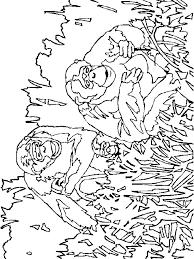 Kids N Fun Kleurplaat Apen Apen