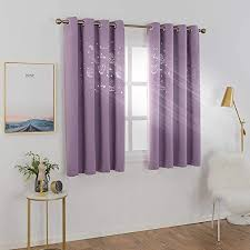 Amazon Com Mangata Casa Kids Blackout Curtains Grommets 2 Panels With Cutout Star Butterfly For Nursery Bedroom Thermal Window Curtains Panel For Living Room Darkening Drapes Lilac 52x63inch Home Kitchen