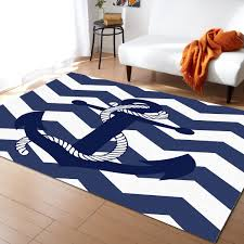 Anchor Rope Ripple Navy Blue Pattern Carpets For Living Room Bedroom Area Rug Kids Room Play Mat 3d Printed Home Large Carpet Carpet Aliexpress