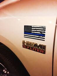 3 Pack Of Tattered Blue Line Flag Thin Blue Line Decals Black White Bewild