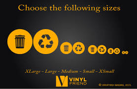 Recycle And Trash Logo Symbol Style 2 For Trash Cans Containers And Walls Vinyl Decal Sticker Graphic Art 2552