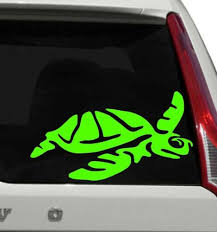 Turtle Car Window Decal Hawaii Turtle Car Window Sticker Rainbowlands Lk