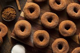 vegan pumpkin doughnuts with